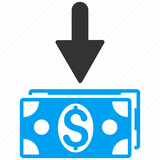 banknotes, cash, dollar, finance, get money, income, payment icon