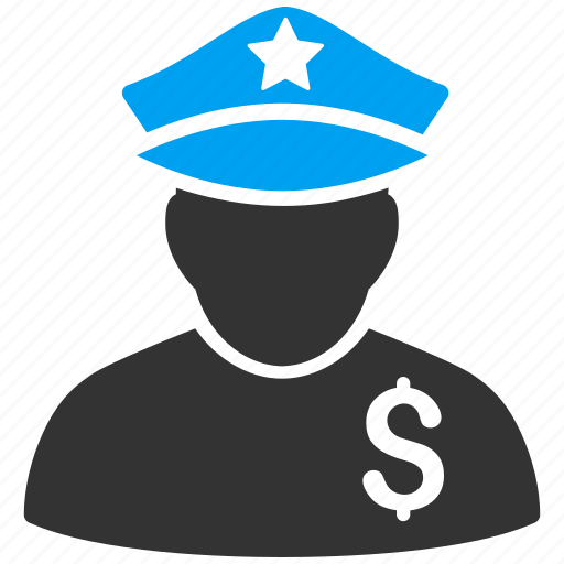enforcement, finance, financial police, guard, policeman, security, tax officer icon