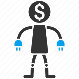 bank robot, banking, business, finance, industry, machine, technology icon