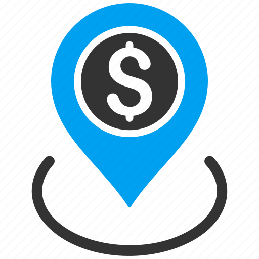 bank place, banking, finance, location, map pointer, money, position icon