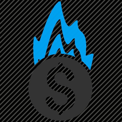 bankruptcy, burn, danger, fire damage, flame, insurance, problem icon