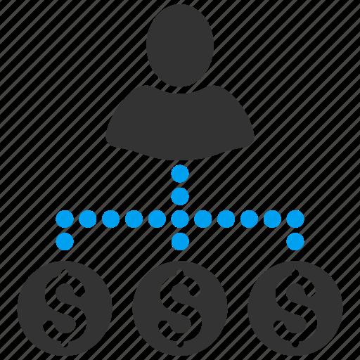business man, businessman, cash flow, expenses, financial, person, user payments icon
