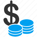 business, cash, coins, dollar, finance, money, payment icon