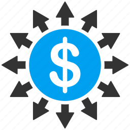 banking, branches, cash, cashflow, payments, payouts, transactions icon
