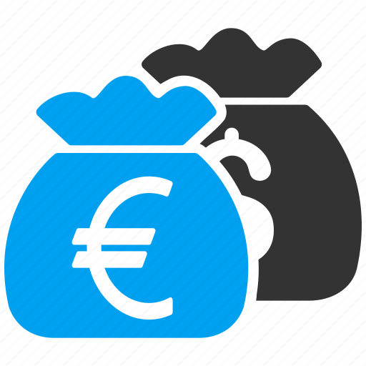business, cash, euro, finance, fund, money bags, payment icon