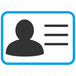 access card, account, contact, details, personal, profile, user data icon