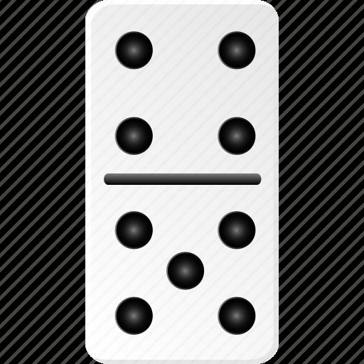 casino, domino, fun, gambling, game, hazard, play icon