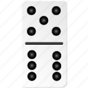 casino, domino, fun, gambling, game, hazard, play icon