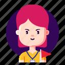 avatar, female, guide, profession, tour icon