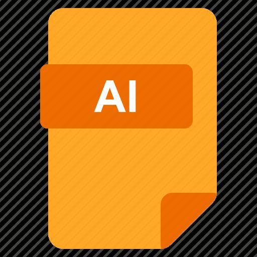ai, file, format, type icon