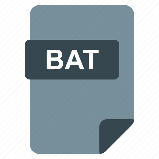 Bat, file, format, type icon - Download on Iconfinder