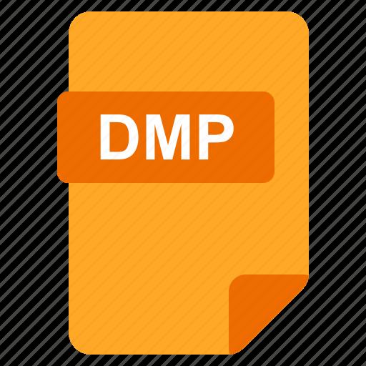 dmp, file, format, type icon