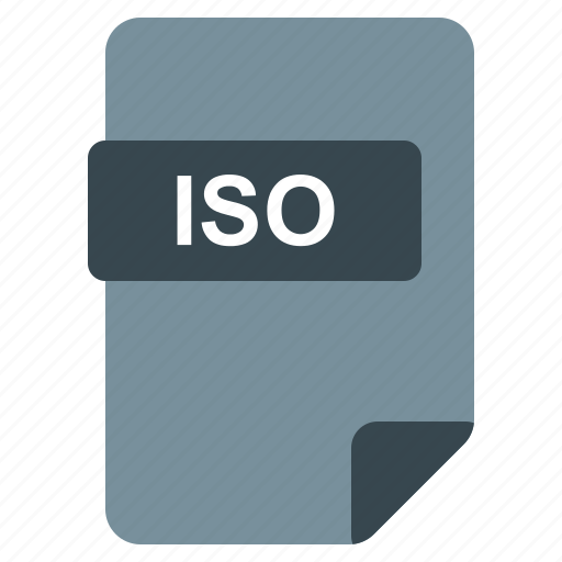file, format, iso, type icon