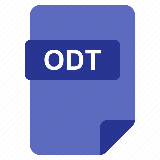 File, format, odt, type icon - Download on Iconfinder