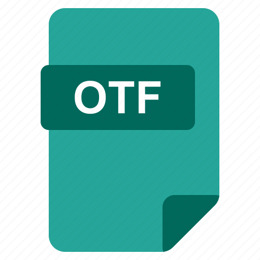 file, format, otf, type icon