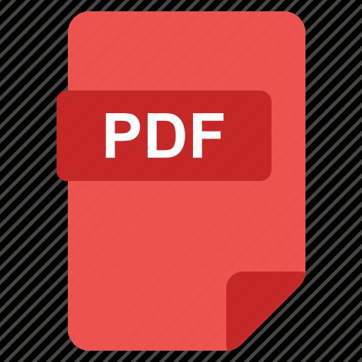 file, format, pdf, type icon