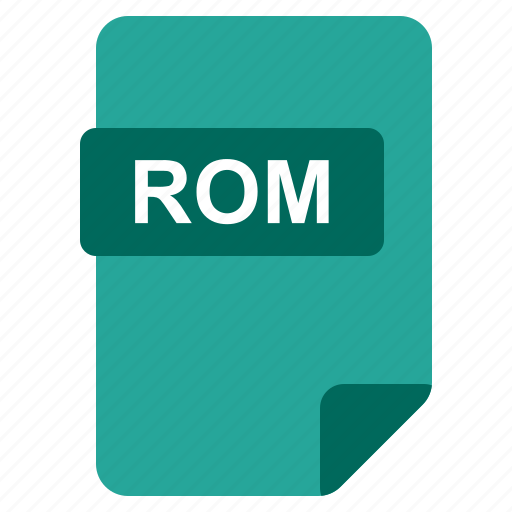 file, format, rom, type icon
