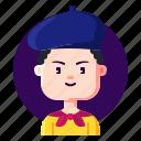 avatar, artist, designer, male, profession icon
