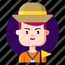 avatar, guide, male, profession, tour icon