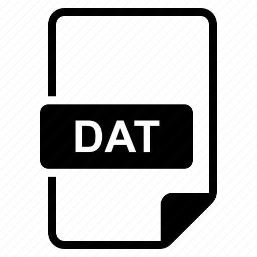 Dat, file, format, type icon - Download on Iconfinder
