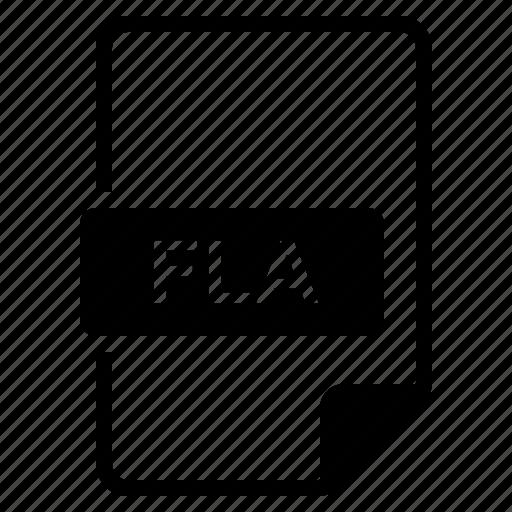 file, fla, format, type icon