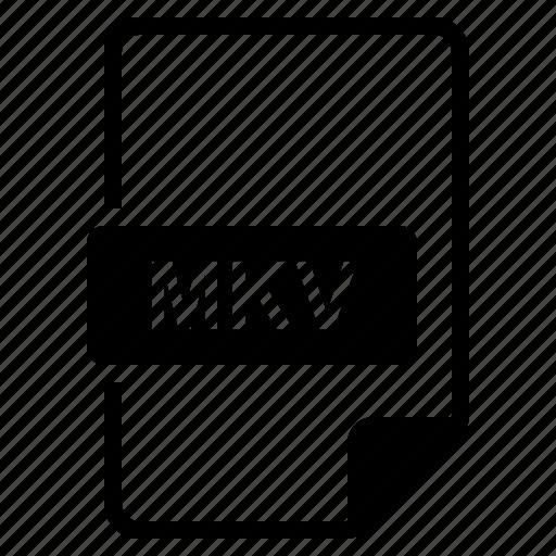 File, format, mkv, type icon - Download on Iconfinder