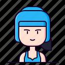 avatar, boxer, female, fighter, mma, profession icon