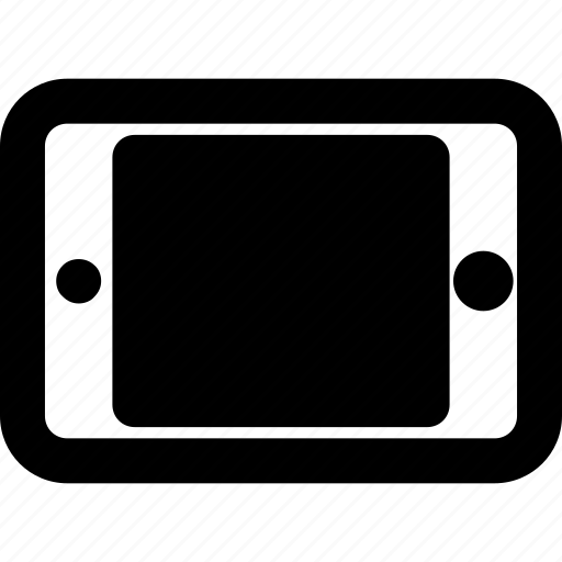 ipad, landscape, tablet icon