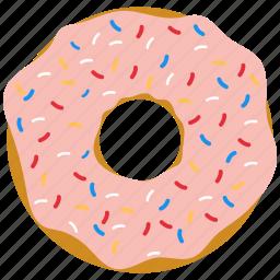 doughnut, jam, police, sugar icon