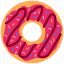 breakfast, bun, dessert, donut, food, kitchen, sweet icon