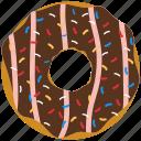 chocolate, confection, dessert, donut, doughnut