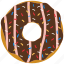 chocolate, confection, dessert, donut, doughnut icon
