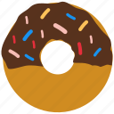 chocolate, confection, dessert, donut, doughnut icon