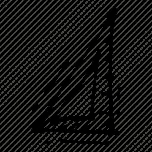 education, measure, ruler, set square, stationary icon