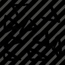 pattern, broken, doodles, scribble, triangles