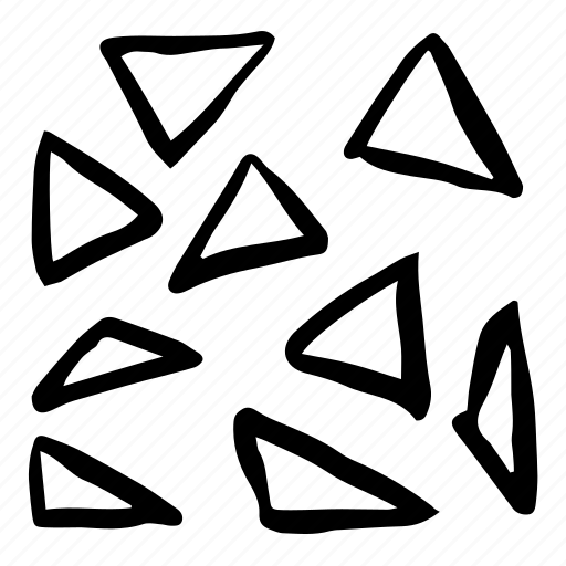 broken, doodles, hand drawn, pattern, scribble, triangles icon
