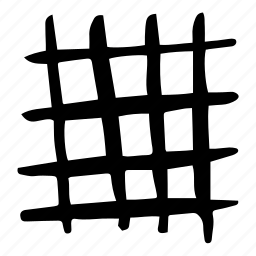 doodles, grid, hand drawn, mesh, net, pattern, scribble icon