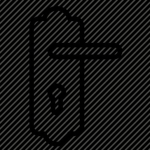 door handle, door lock, furniture, house lock, key lock icon