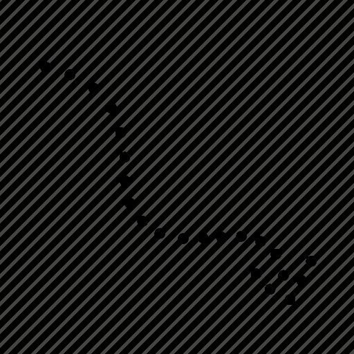 arrow, arrows, direction, dots arrow icon