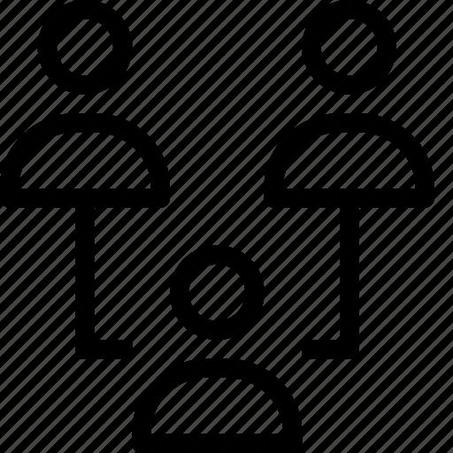 business, organization, structure, team, work icon