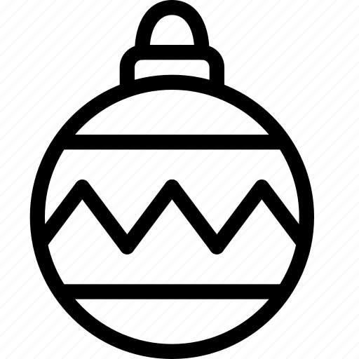 bauble, christmas, decoration, noel, tree icon