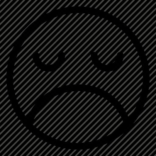 Emoji, emoticon, emotion, face, sad, sorrow icon - Download on Iconfinder