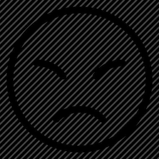 emoji, emoticon, emotion, face, sad, sorrow icon