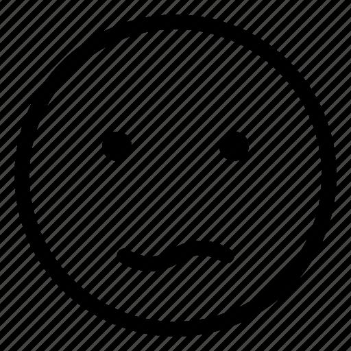 bored, dull, emoji, emoticon, emotion, face icon