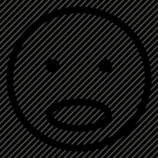 emoji, emoticon, emotion, face, surprised icon