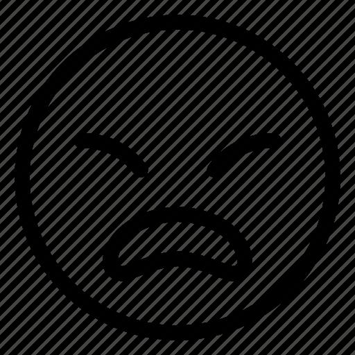 Bored, dull, emoji, emoticon, emotion, face icon - Download on Iconfinder