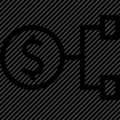 audit, business, connect, distribution, finance, money icon