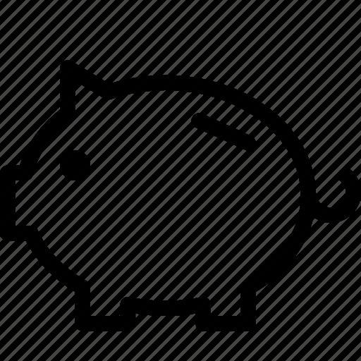 bank, finance, money, pig, piggy, saving icon