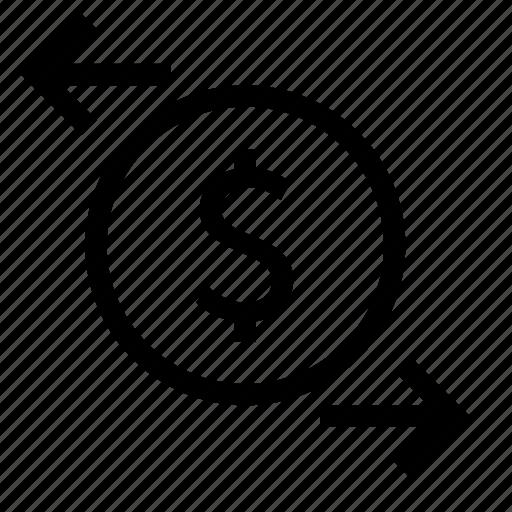 arrow, business, finance, flow, money icon
