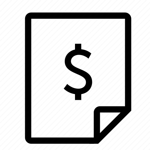 bill, invoice, receipt, sale, shopping icon